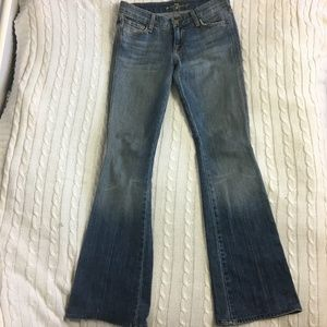 """7 For All Mankind """"A"""" Pocket Bootcut Jeans Size 26"""